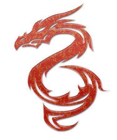 dragones: Ilustraci�n de un m�tico drag�n