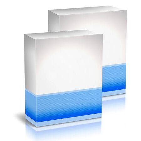 Cajas de cartón con impresión genérica Foto de archivo