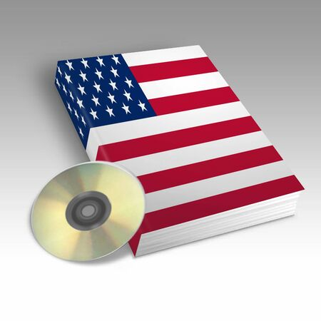 One book with the American flag printed Stock Photo - 4722430