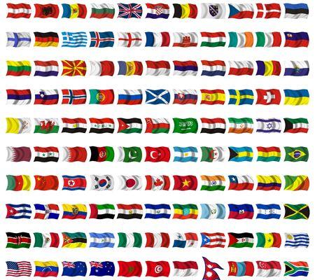 flag: Collectie van vlaggen uit de hele wereld Stockfoto