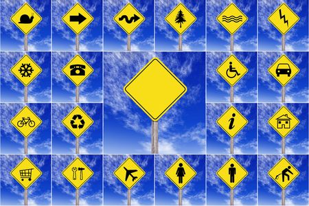 precautionary: traffic signals on a white background