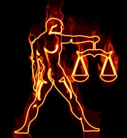 aries: Colecci�n de los signos del zod�aco envueltos en fuego