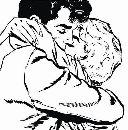 illustration of a pair of lovers illustration