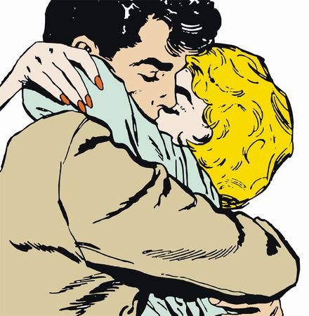 illustration of a pair of lovers Stock Photo