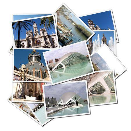 スペイン Valencia 市からのポストカード 写真素材