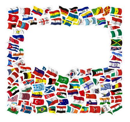 world group: Collection of Flags on a withe background