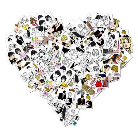 illustration of lovers on a white background Stock Illustration - 6811530