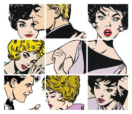 愛好家のいくつかのペアを持つストック イラスト