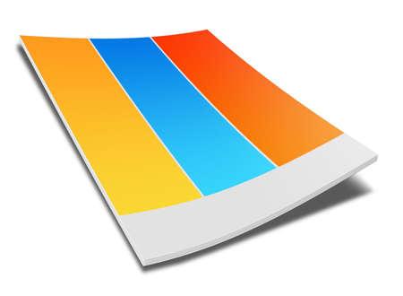 白い背景の上の本のイラスト 写真素材
