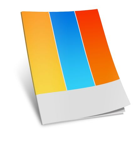 blank book cover: Illustration of  book on white background