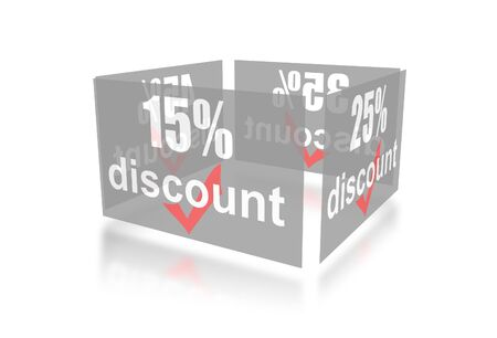 Percentage of trade discounts Stock Photo - 7102448