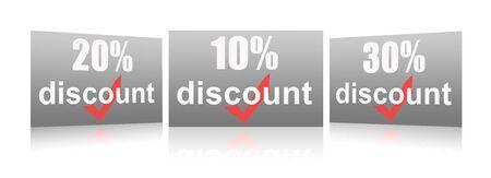 Percentage of trade discounts Stock Photo - 7102452