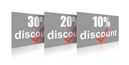 Percentage of trade discounts Stock Photo - 7102443
