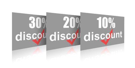 Percentage of trade discounts Stock Photo - 7102443