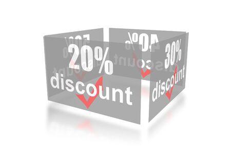 Percentage of trade discounts Stock Photo - 7102449