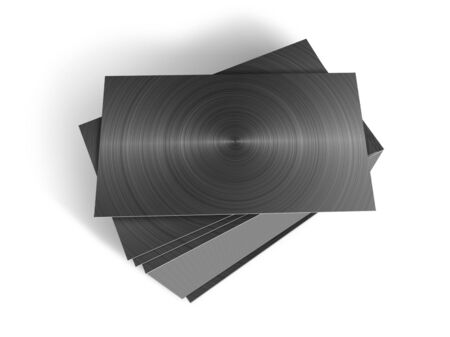 Stacked metal plates photo