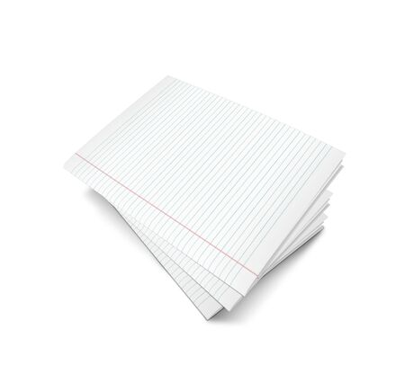 3d illustration of lined notebook on a white background on a white background Stock Illustration - 7677268