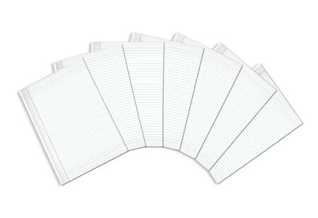 3d illustration of lined notebook on a white background on a white background Stock Illustration - 7677266