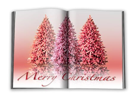 3d render christmas notebook on a white background Stock Photo - 7677351