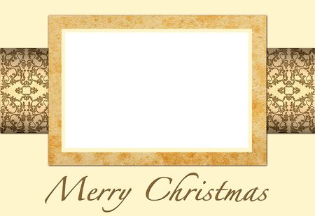 Ilustration of Christmas card to add your picture photo