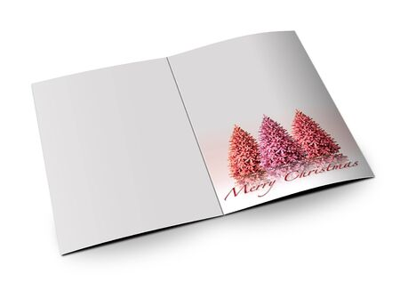 3D christmas postcards on a white background Stock Photo - 7677354