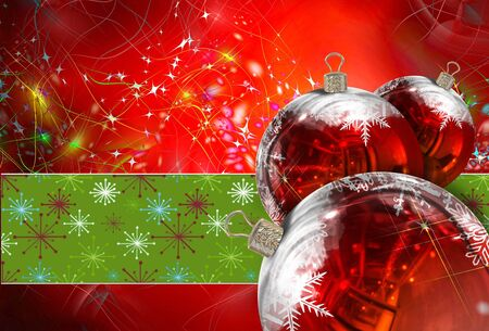 festive season: Christmas Balls background, illustration of Christmas Card