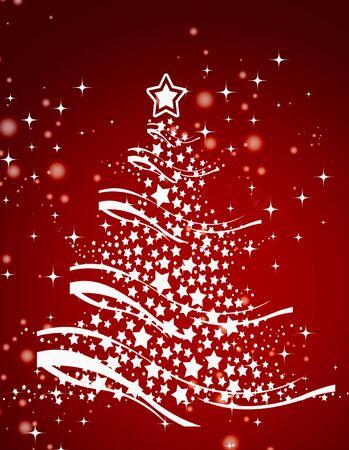 イラスト クリスマス ツリーの背景色、クリスマス カード