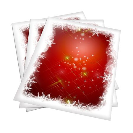 3D render Christmas  Card on a white background