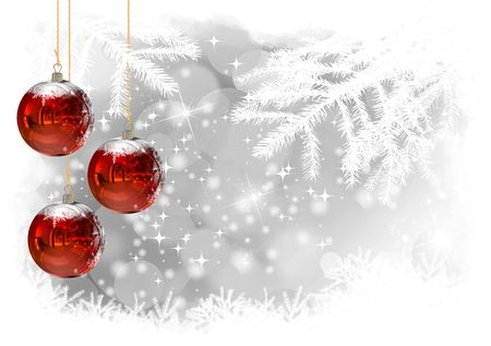 Christmas Balls background, illustration of Christmas Card