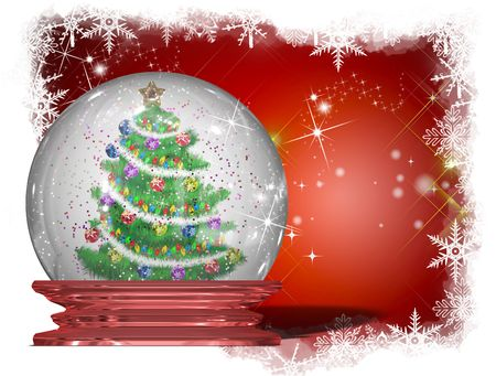 Traditional Christmas background, illustration of Christmas Card Stock Illustration - 7775866