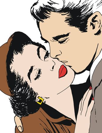 バレンタインデーに恋人たちのペアの一般的な生活