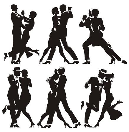 dance music: man en vrouw dans op een feestje