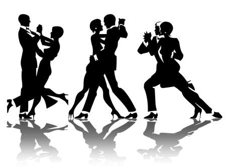 sexual activity: man and woman dance at a party