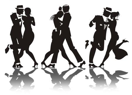 男と女のダンス パーティーで