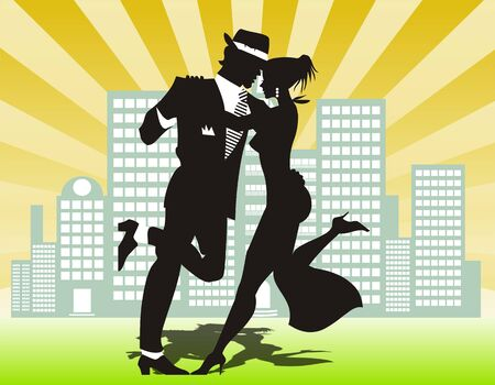 male dancer: man and woman dance at a party
