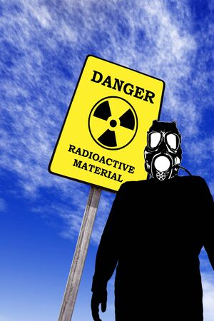 Illustration of a man with anti radiation mask Stock Illustration - 8924668