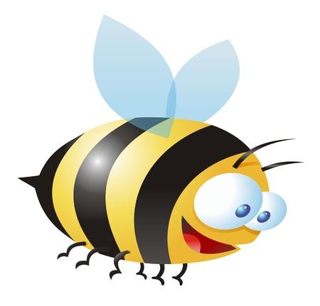 comic illustration of a bee illustration