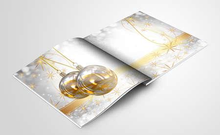 xmas decoration: Christmas balls picture book Stock Photo
