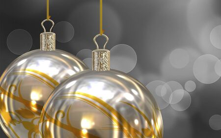 Christmas balls background photo