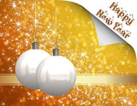 Christmas balls background Stock Photo - 11059478