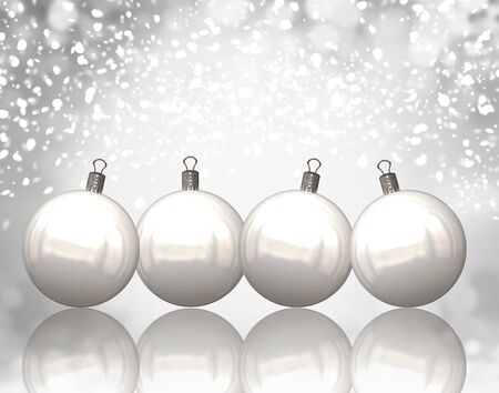 Christmas balls background Stock Photo - 11059433