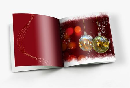Christmas balls picture book photo