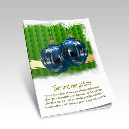 3D Christmas balls picture book Stock Photo - 11208713