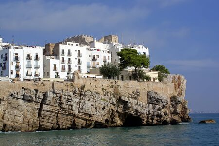 Views of the City Lighthouse and Castle of Papa Luna - Peniscola (Castellon) Costa Azahar-Spain-Maestrat Baix photo
