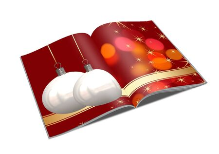 3D Christmas balls picture book Stock Photo - 11208671