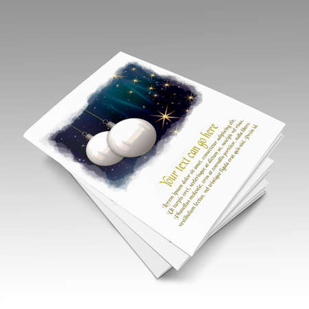 3D Christmas balls picture book Stock Photo - 11208666