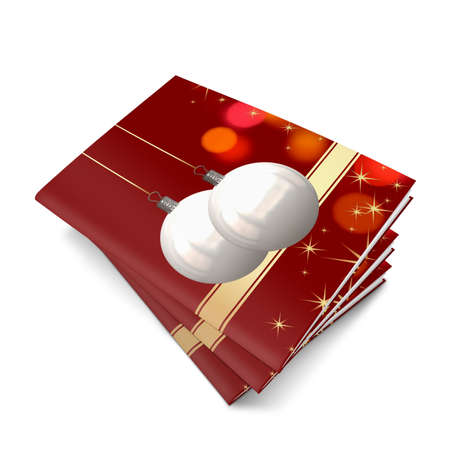 3D Christmas balls picture book Stock Photo - 11208670