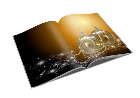 3D Christmas balls picture book Stock Photo - 11208679