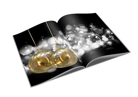 3D Christmas balls picture book Stock Photo - 11208677