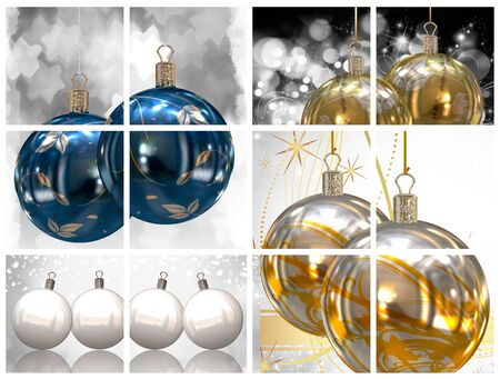 Collection of Christmas balls pictures photo